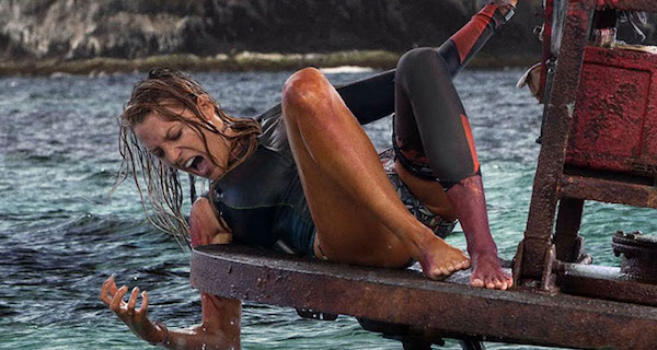 The Shallows blake lively dangles in the water