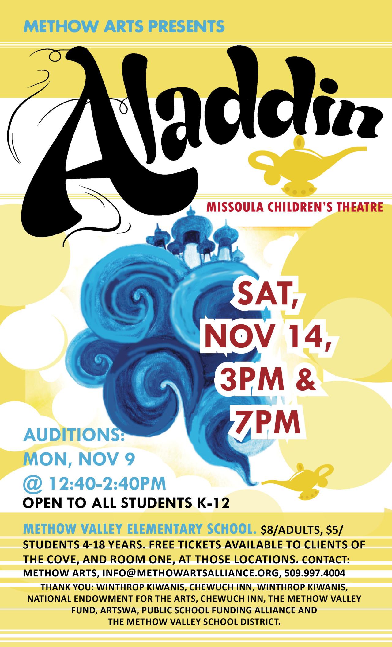 Missoula Childrens Theatre Aladdin Methow Arts