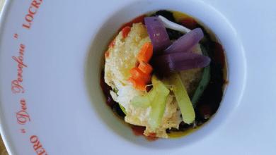 Photo of Coroncina di stoccafisso in laccio di porro e colori di ortaggi scottati