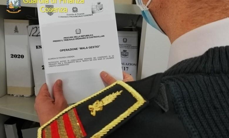 Photo of 33 indagati per il fallimento della Banca dei Due Mari di Calabria