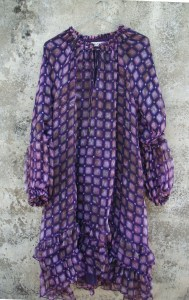 Robe Clémence-Purple Check