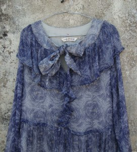Robe Helen-Viscose Blue flower