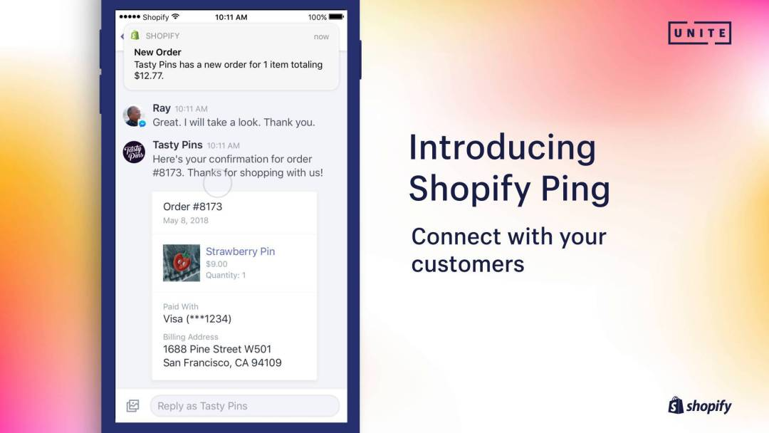 Shopify Ping App