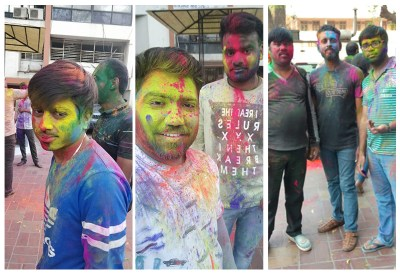 Metiz Avengers playing Holi 2019