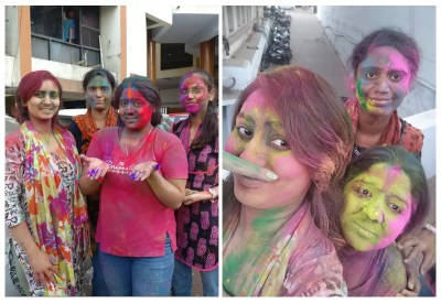 Powerpuff Girls Holi Celebrate