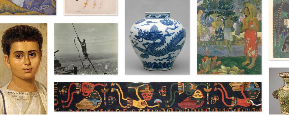 Collage of public-domain images in The Met collection