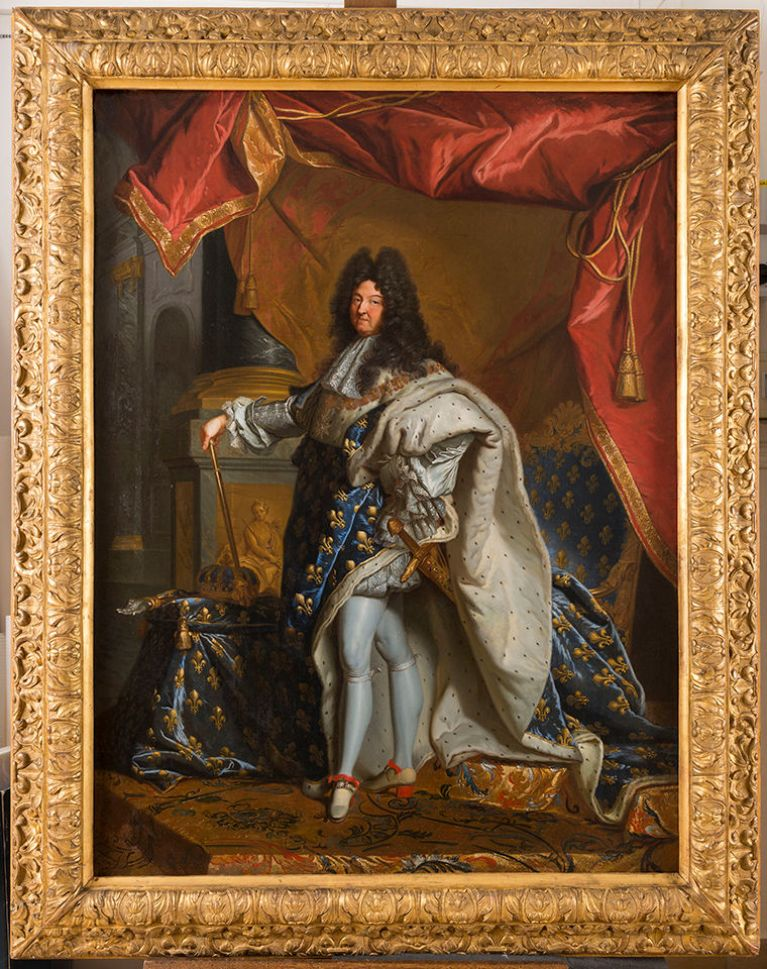 Oil Painting of Louis XIV by Hyacinthe Rigaud
