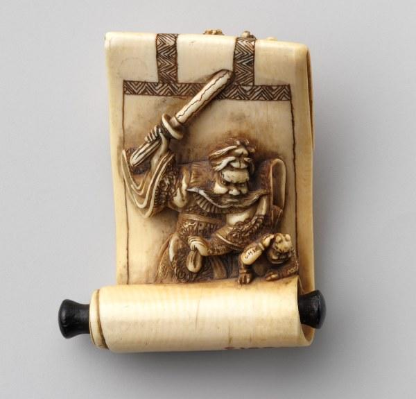 Netsuke Hanging Scroll With Of Shki And Demons Japanese 10.211.513 Heilbrunn