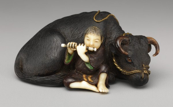 Netsuke Ox With Boy Playing Flute Japanese 10.211.780 Heilbrunn Timeline Of Art History