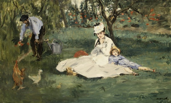 Manet Monet Family in the Garden
