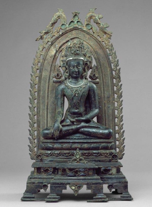 Seated Crowned And Jeweled Buddha Bihar India 1993