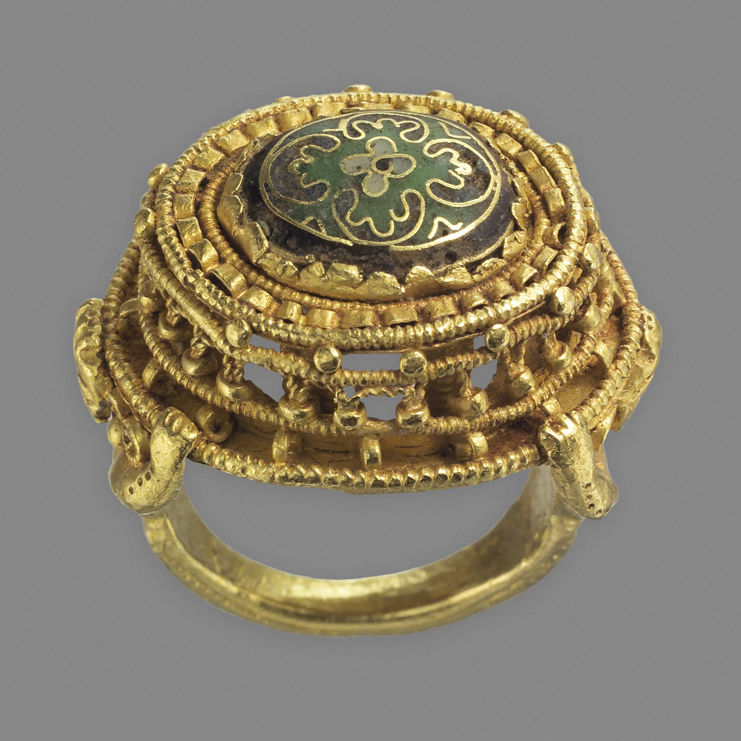Gold Cloisonné Ring from the Middle Ages