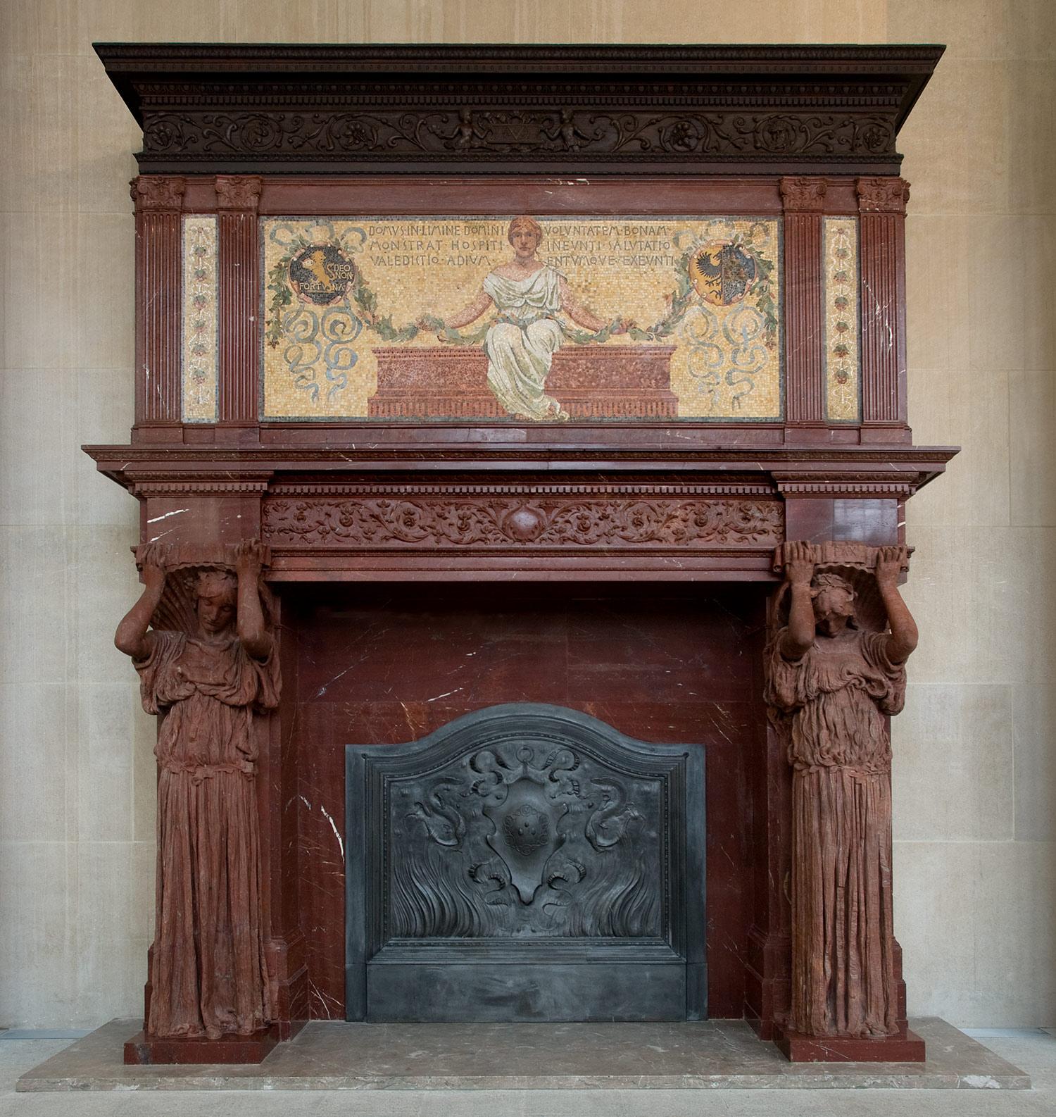 Augustus Saint Gaudens Vanderbilt Mantelpiece 25234