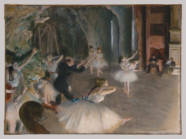 Edgar Degas Rehearsal Onstage 29.100.39 Heilbrunn