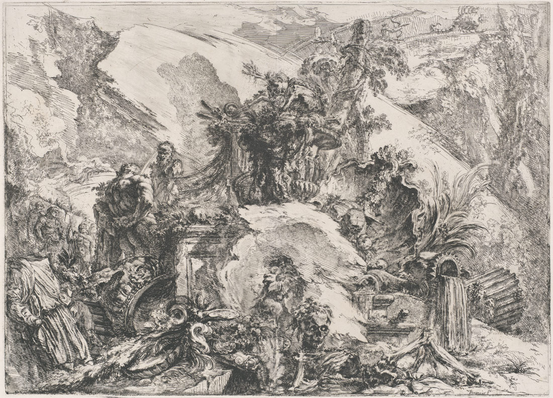 From the <I>Grotteschi</B></I>, ca. 1748, Giovanni Battista Piranesi (Italian), Etching with engraving, drypoint, and burnishing, second state (37.45.3.38)