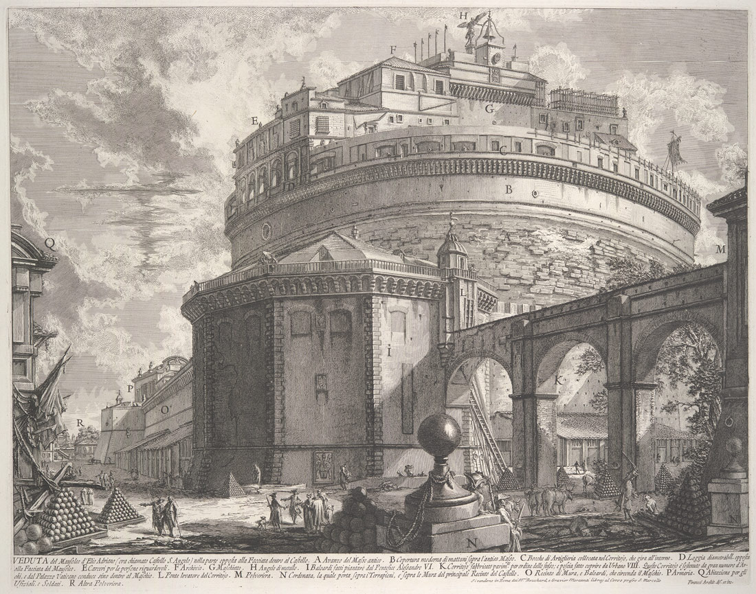 From <I>Vedute di Roma (Views of Rome)</B></I>, ca. 1756, Giovanni Battista Piranesi (Italian), Etching, undescribed first state with address of Bouchard (55.567.6)