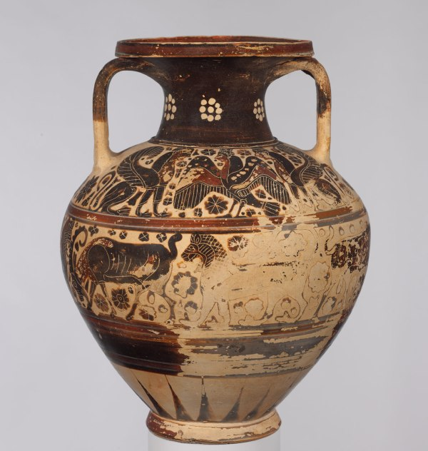 Terracotta Neck-amphora Storage Jar Work Of Art