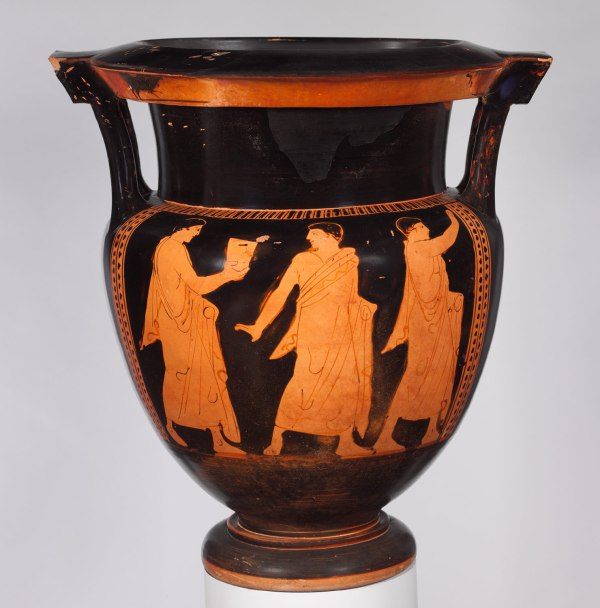 Terracotta Column-krater Bowl Mixing Wine And Water