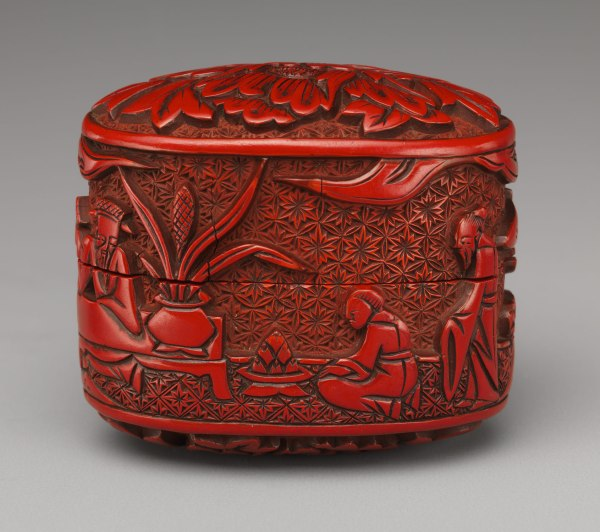 Japanese Red Lacquer Box