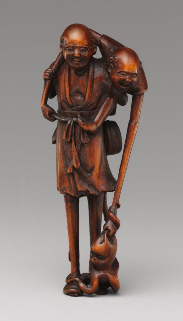 Netsuke Of Ashinaga And Tenaga With Octopus Work Art Heilbrunn Timeline History