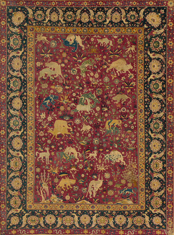Silk Animal Carpet  Work of Art  Heilbrunn Timeline of