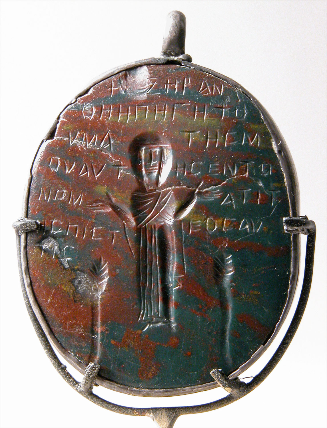 Amulet Carved In Intaglio Incised