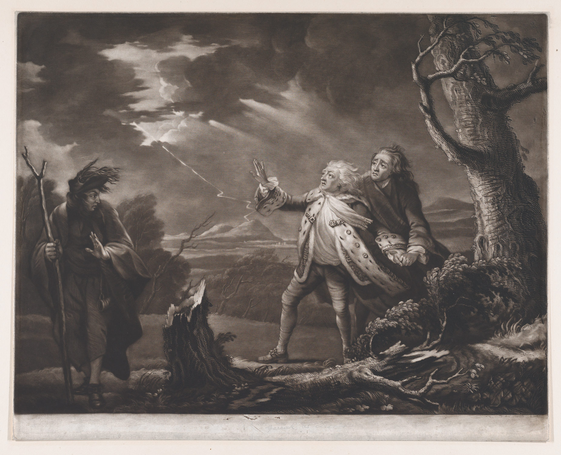 hight resolution of captions david garrick as king lear shakespeare king lear act 3 scene 1