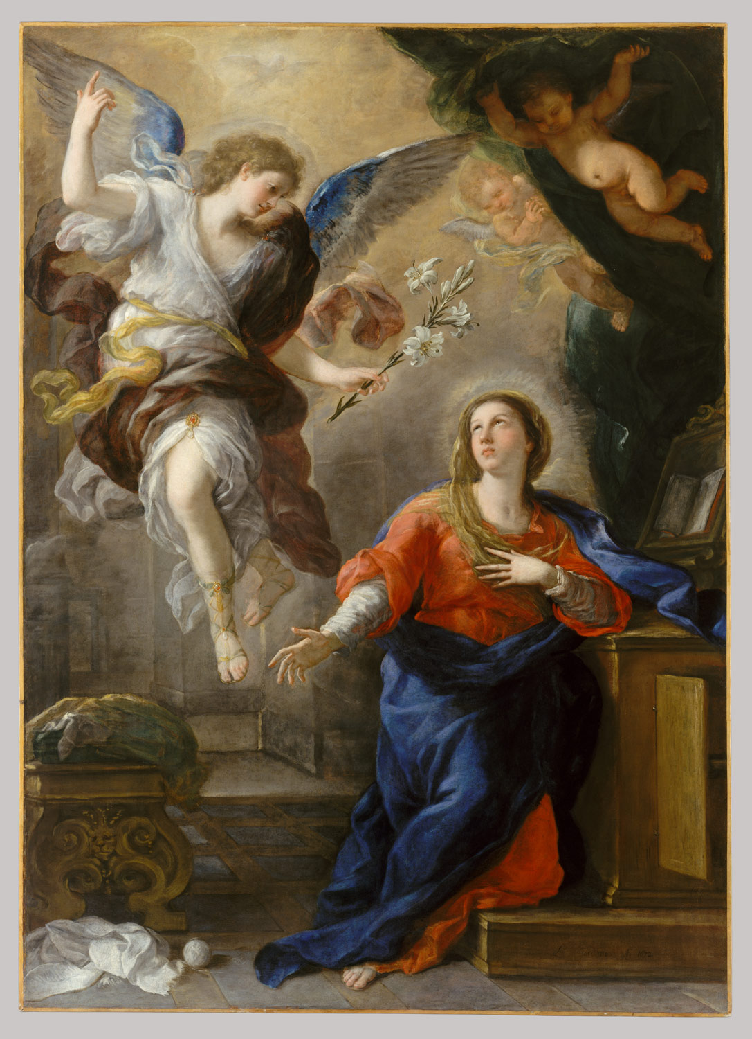 the annunciation luca giordano