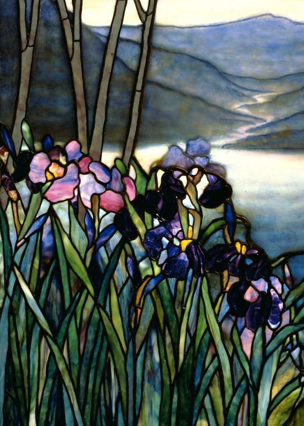 Magnolias And Irises Louis Comfort Tiffany