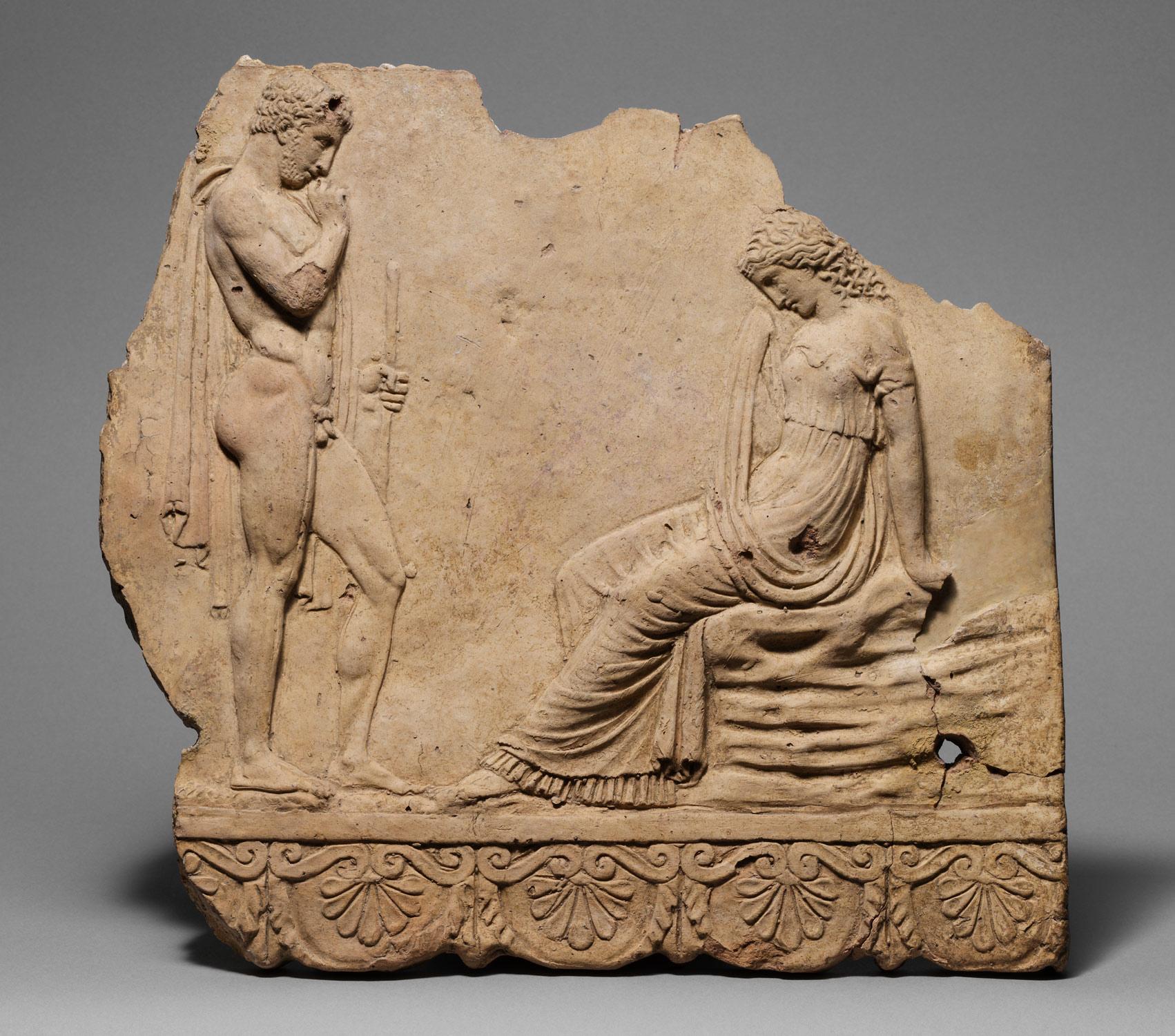 hight resolution of  terracotta plaque