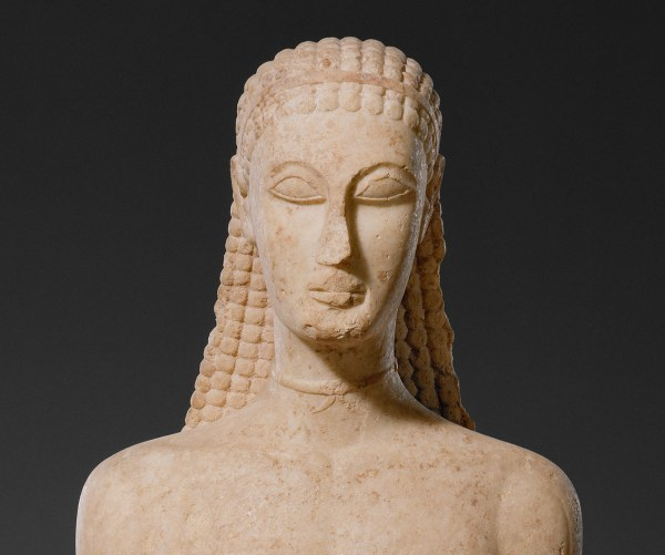 Marble Statue Of Kouros Youth Work Art
