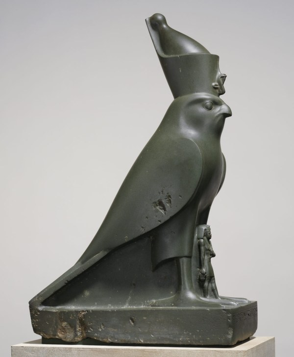 God Horus Protecting King Nectanebo Ii Work Of Art