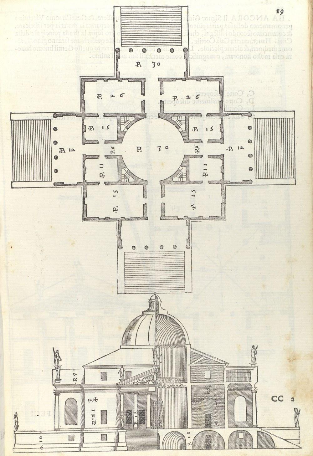 medium resolution of  villa almerico villa rotonda from i quattro libri dellarchitettura book 2