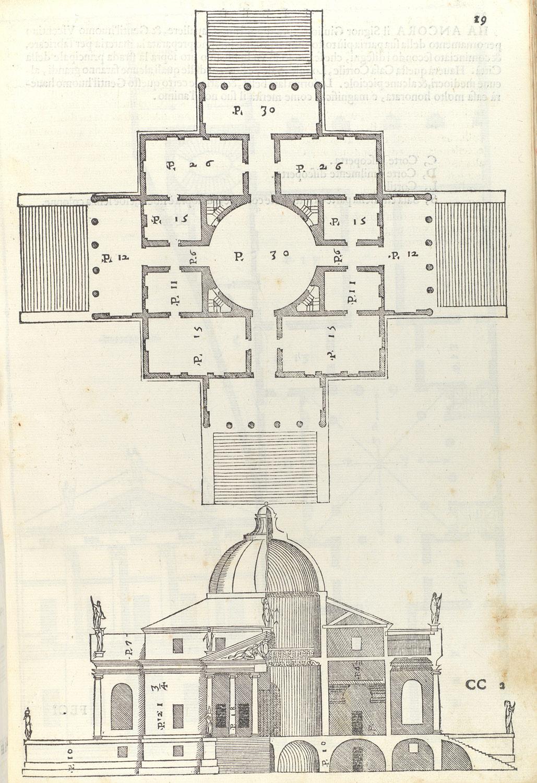 hight resolution of  villa almerico villa rotonda from i quattro libri dellarchitettura book 2