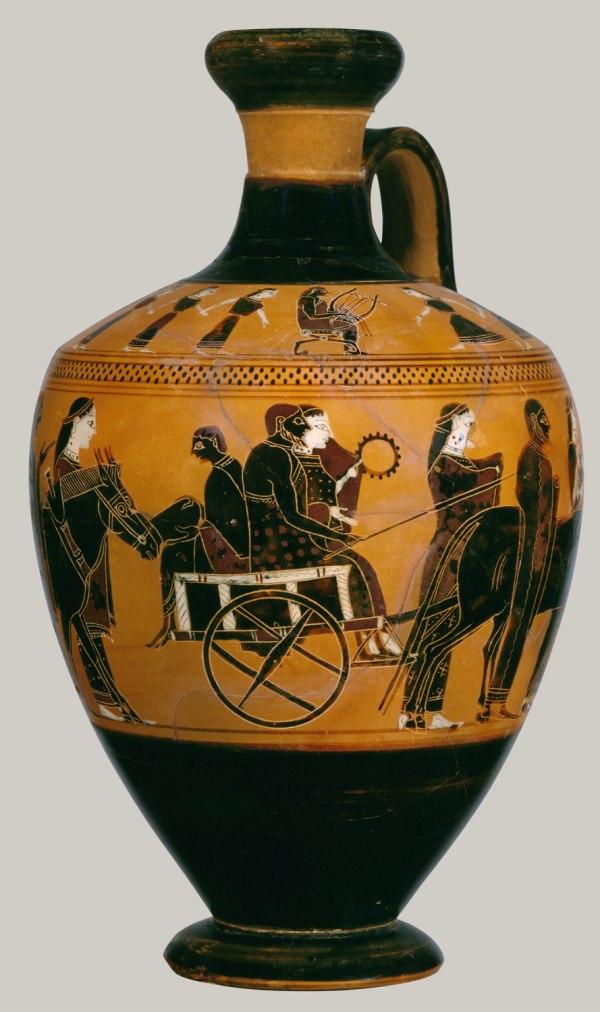 Terracotta Lekythos Oil Flask Attributed Amasis
