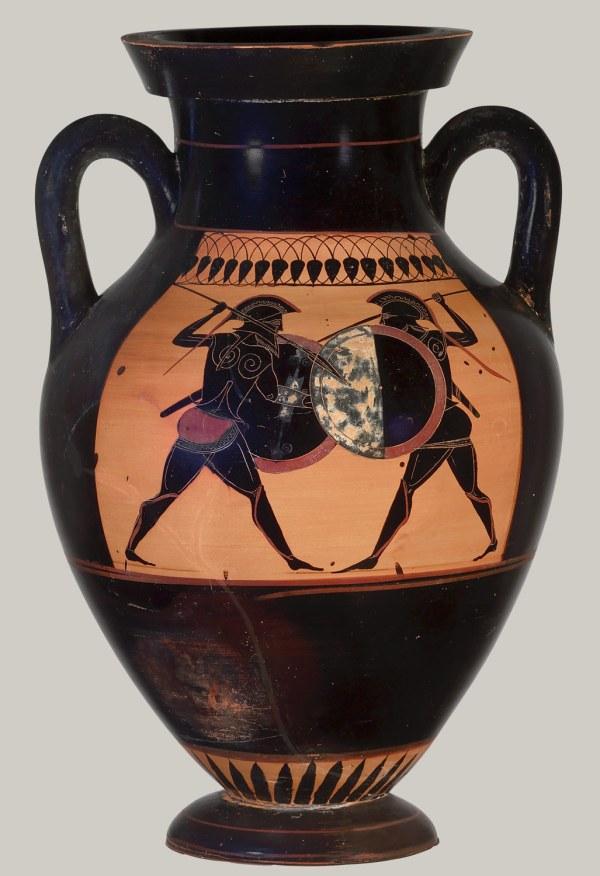 Terracotta Amphora Jar Attributed Manner Of