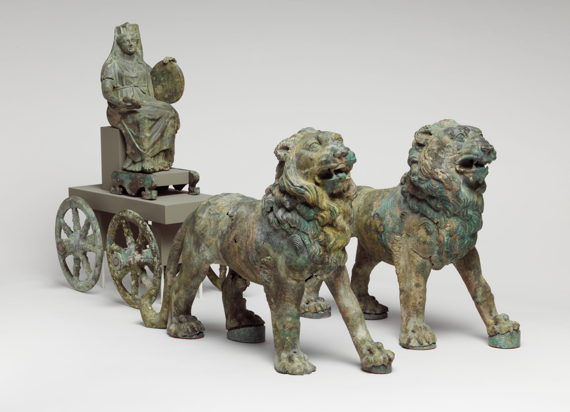 Bronze statuette of Cybele on cart drawn by lions, 2nd half of 2nd century A.D. [www.metmuseum.org]