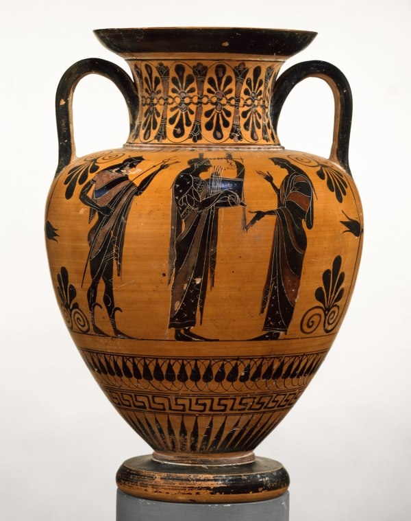 Terracotta Neck-amphora Jar Work Of Art Heilbrunn