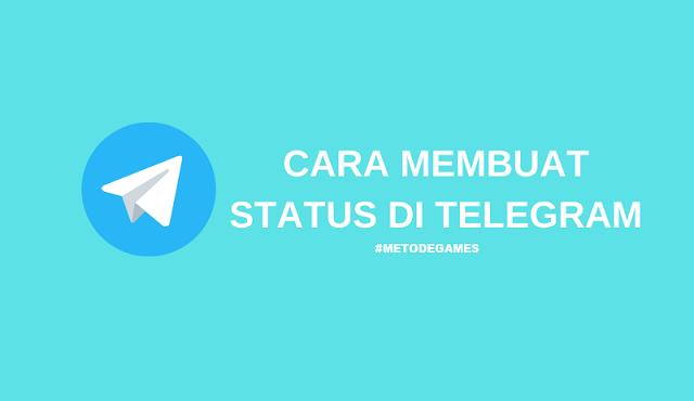 cara membuat status di telegram