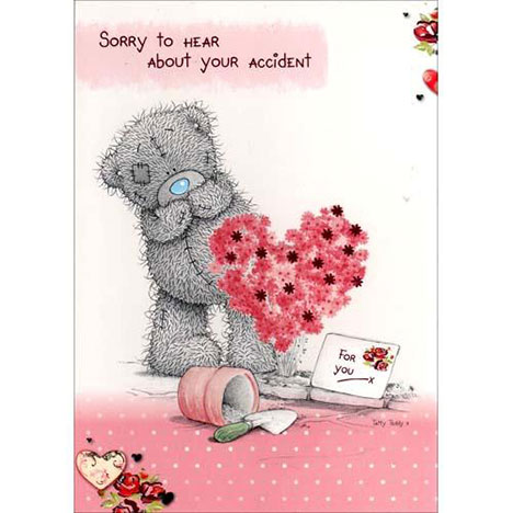 Get Well Accident Me To You Bear Card A01SS090 Me To
