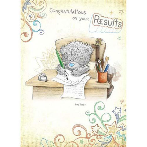 Congratulations On Your Results Me To You Bear Card