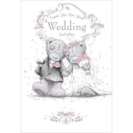 Thank You Wedding Invitation Me To You Bear Wedding Day