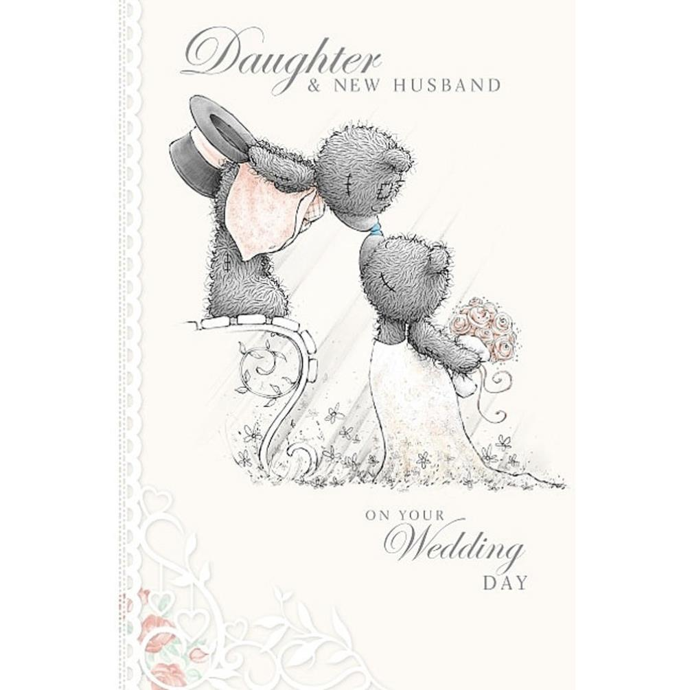 Daughter and New Husband Me to You Bear Wedding Day Card