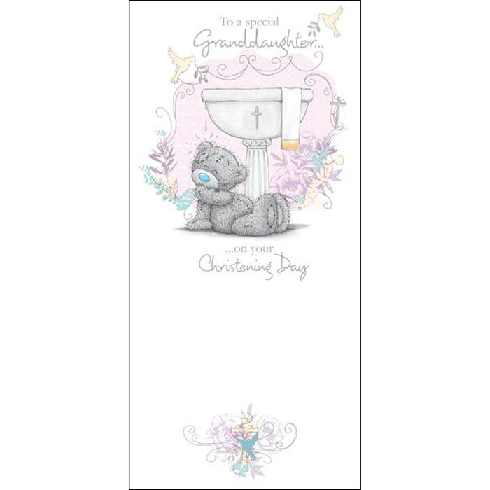 Granddaughter Christening Day Me to You Bear Card