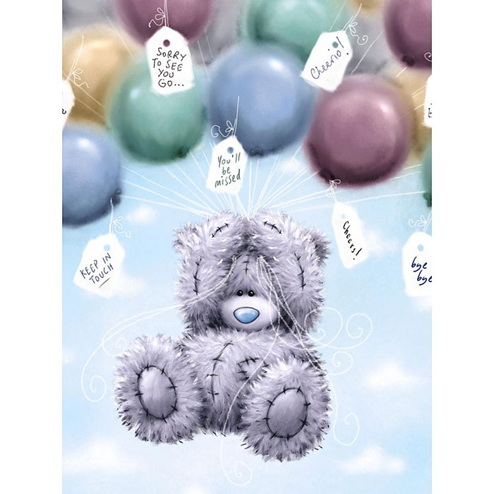 Tatty Teddy And Balloons Large Me To You Bear Leaving Card