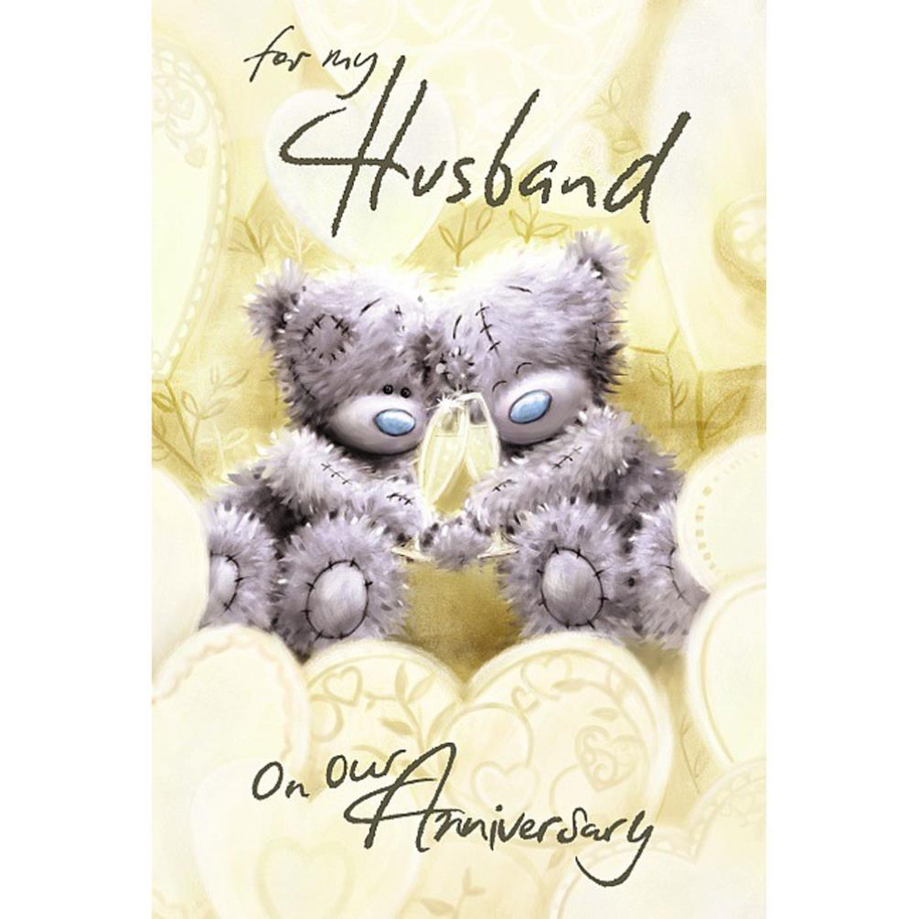 Husband On Our Anniversary Me To You Bear Card A77MS024