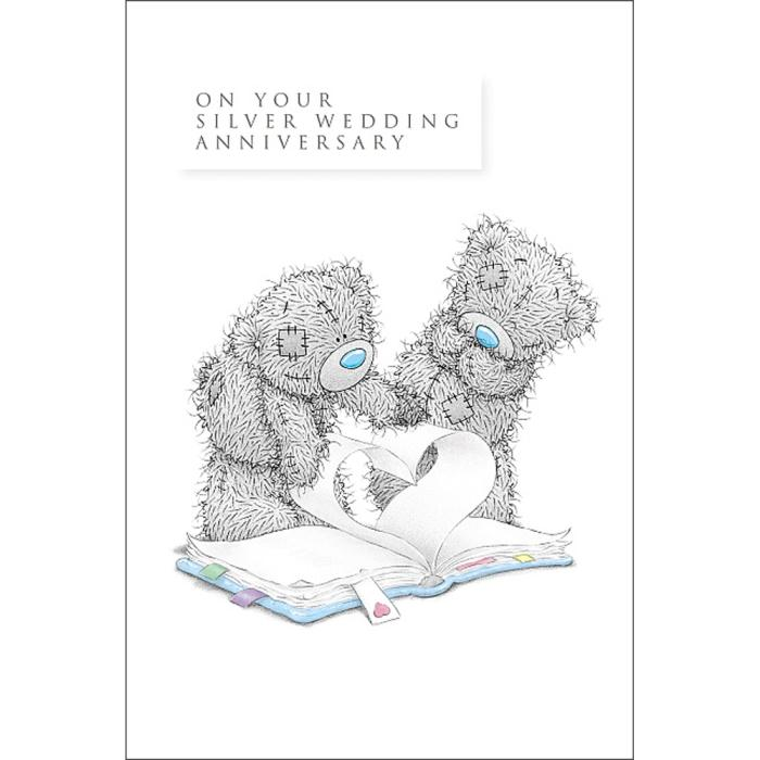 Silver Wedding Anniversary Me to You Bear Card (AL4MT001