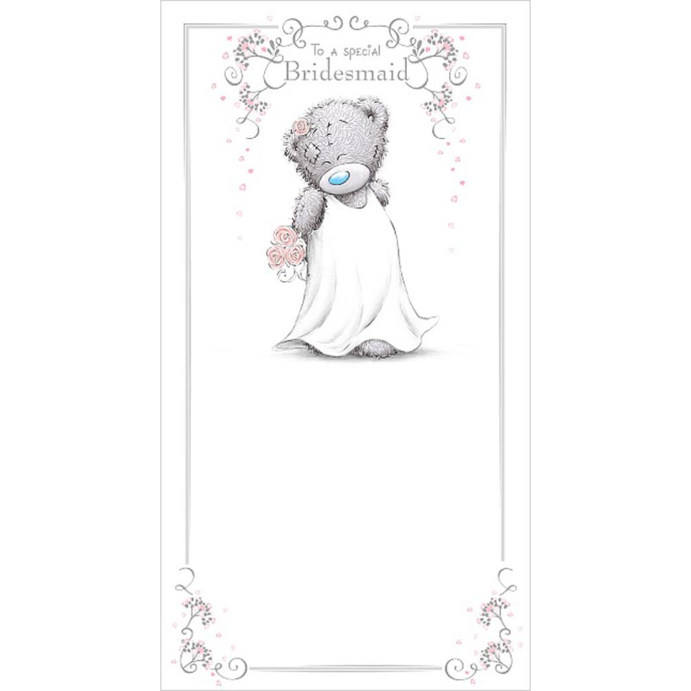 Special Bridesmaid Me To You Bear Wedding Day Card