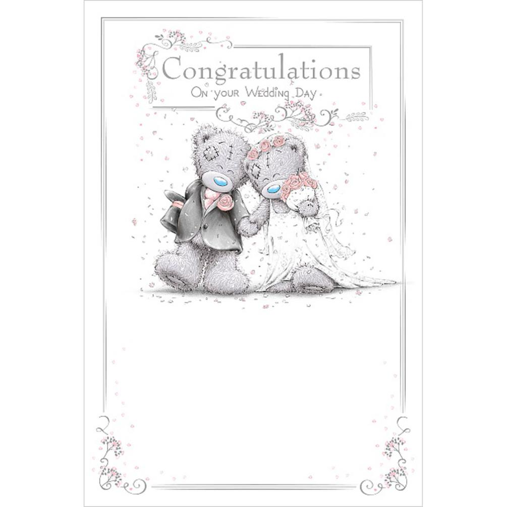 Congratulations Me To You Bear Wedding Day Card (ASM01045