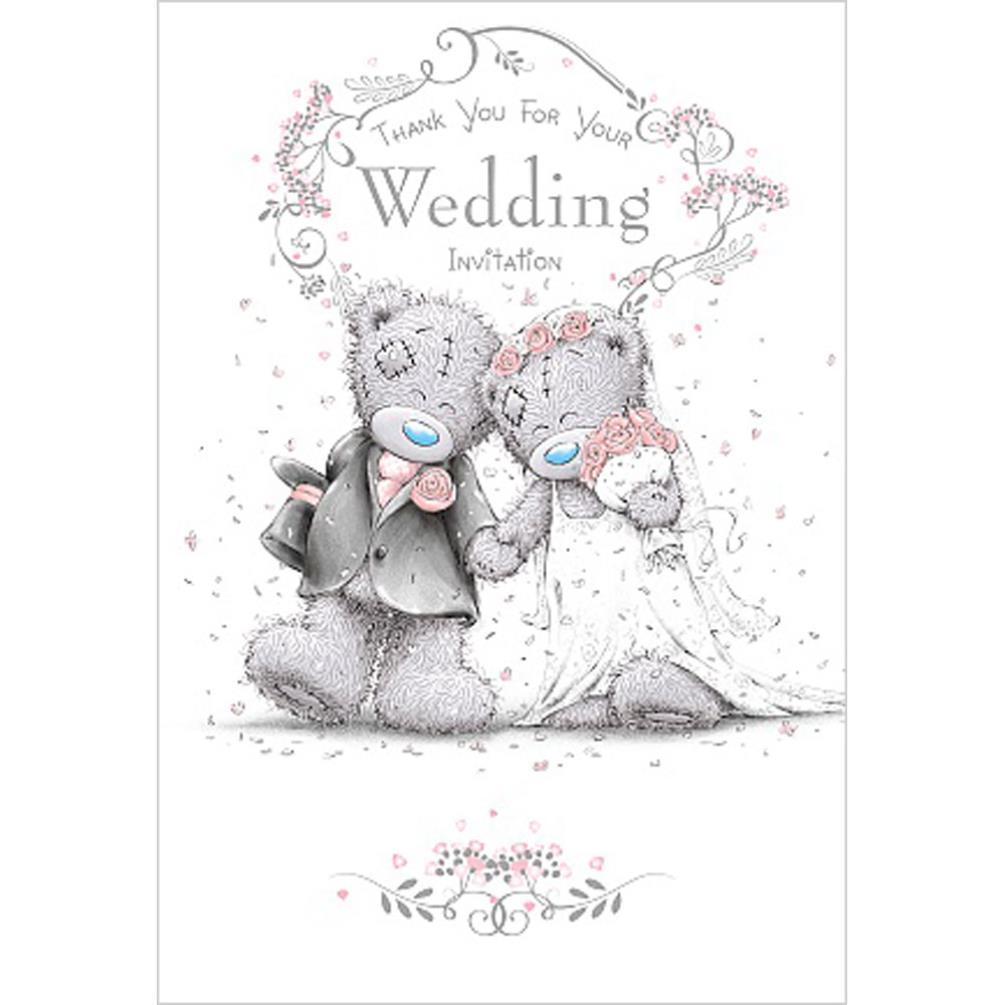 Thank You Wedding Invitation Me To You Bear Wedding Day